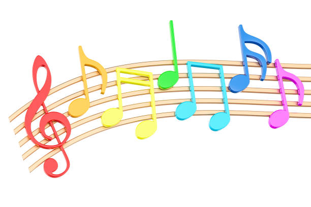 3d Colorful Music Notes Wallpaper: Best Musical Note Stock Photos, Pictures & Royalty-Free