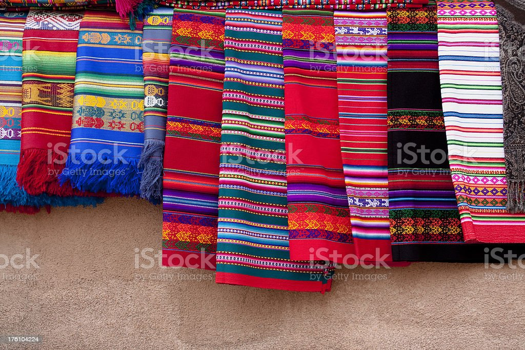 Colorful Native American Indian blankets royalty-free stock photo