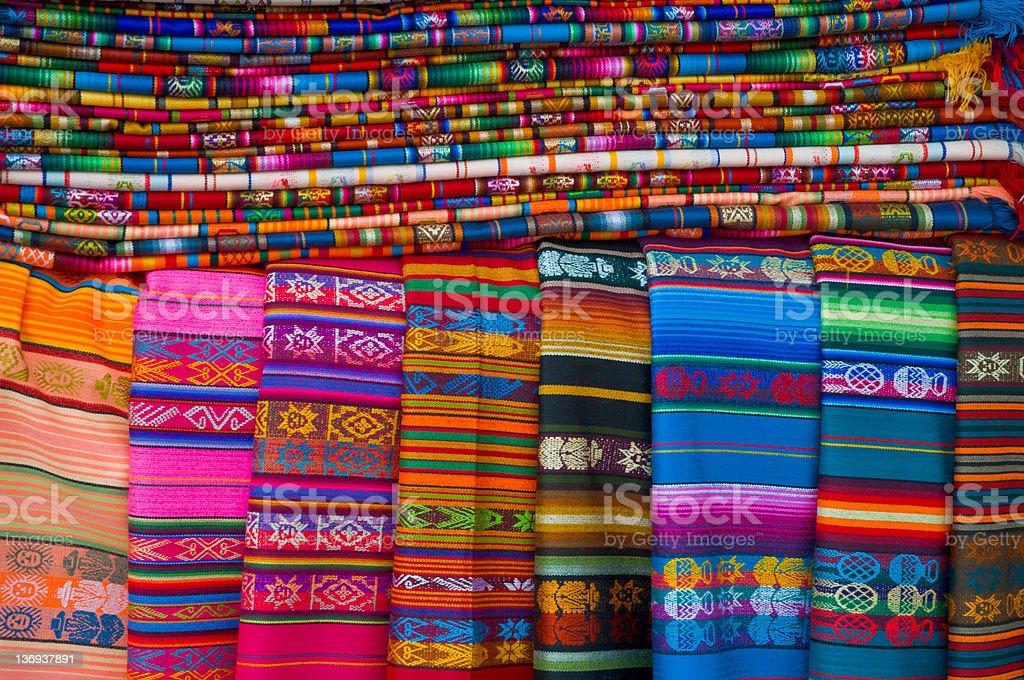 Colorful Navajo Blankets royalty-free stock photo