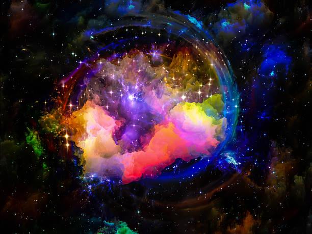 Nebulosa colorido - foto de acervo