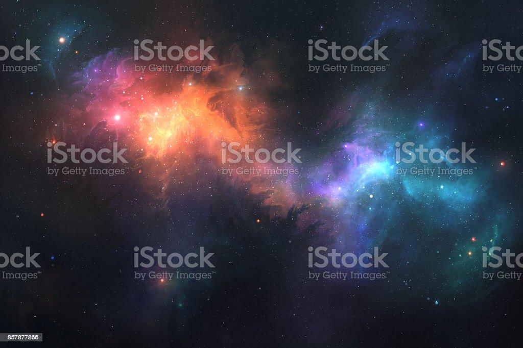 Colorful Nebulae stock photo