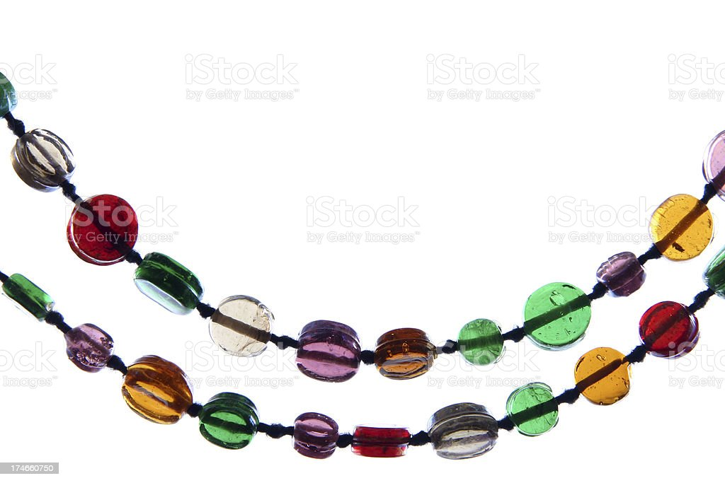 Colorful necklace royalty-free stock photo