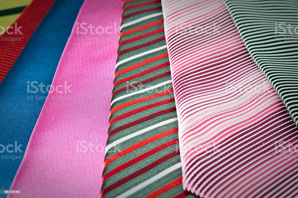Colorful neckties selection royalty-free stock photo