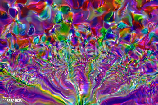 istock Colorful Neon Bubble Abstract Crystal Firework Bunch Glass Fractal Fine Art Holiday Background 1168821833