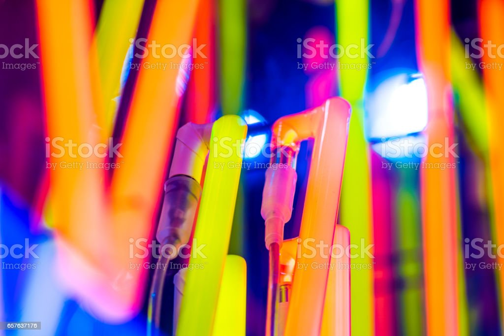 Colorful Neon Light stock photo