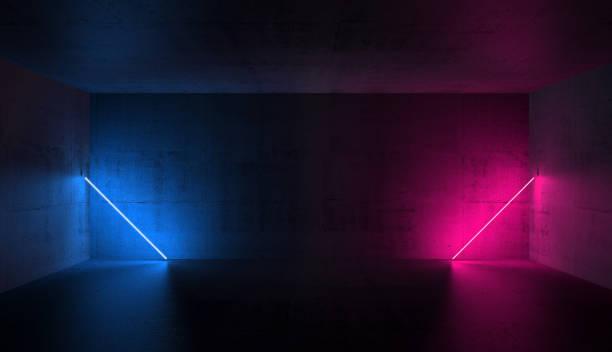 五顏六色的霓虹燈, 3d 渲染插圖 - 霓虹色 個照片及圖片檔
