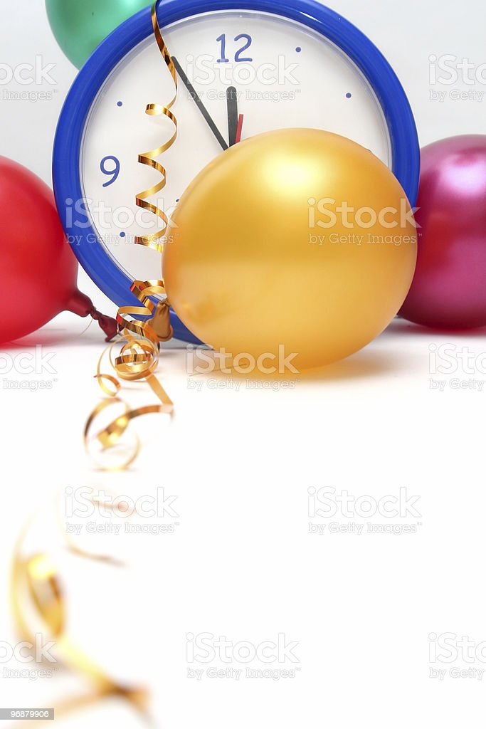 Colorful New Years Eve royalty-free stock photo