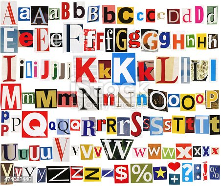 812461124istockphoto Colorful newspaper alphabet 474062446