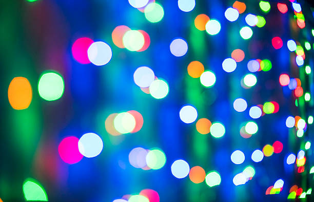 colorful night lights - disco lights stock photos and pictures