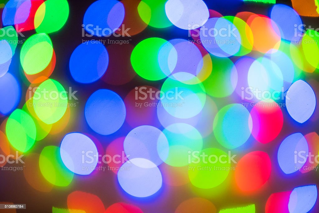 Colorful night lights stock photo