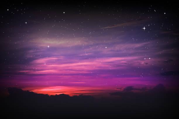 färgglada natthimlen - night sky stars bildbanksfoton och bilder