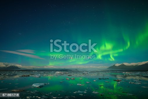 istock Colorful northern lights 671861218