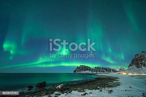 istock Colorful northern lights 800945352