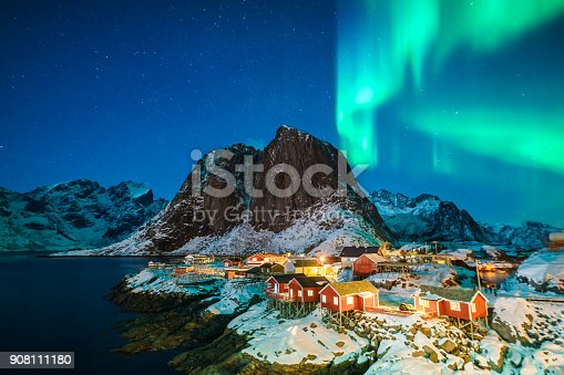 istock Colorful northern lights 908111180