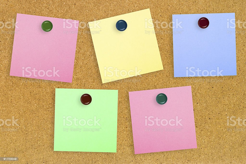 Colorful note paper royalty-free stock photo