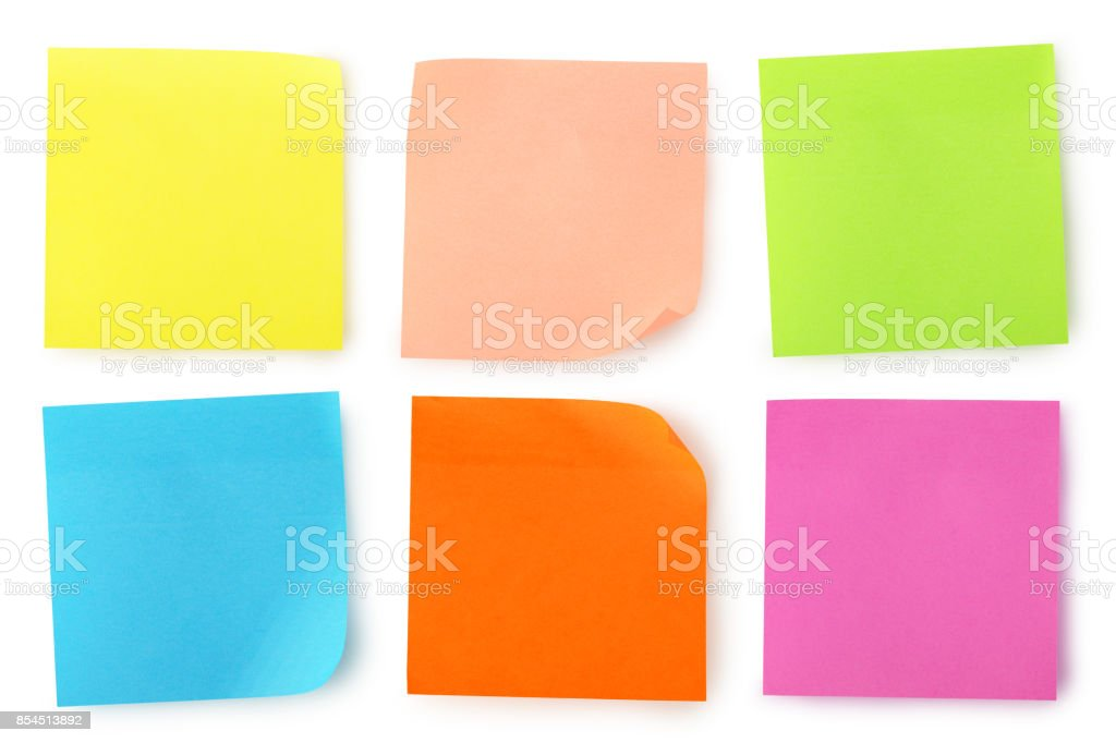 colorful notes stock photo