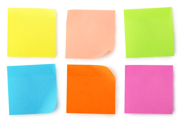 colorful notes - adhesive note stock photos and pictures