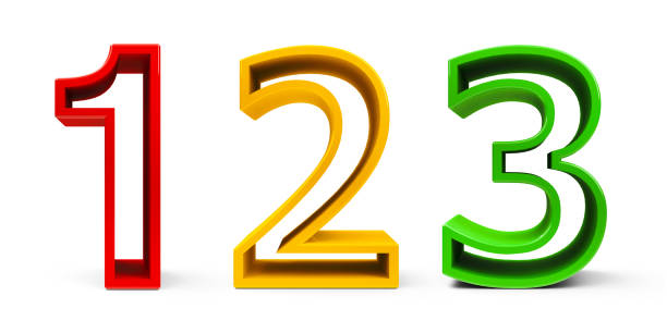 Colorful Numbers 1 2 3 #2 stock photo