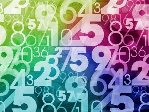 colorful abstract random numbers background