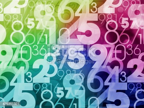 istock colorful numbers background 476351321