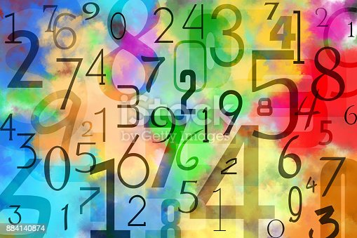 istock Colorful numbers background 884140874