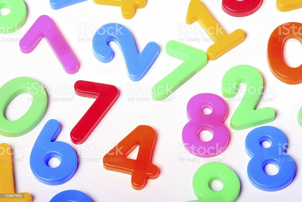 Colorful Numbers on white background royalty-free stock photo