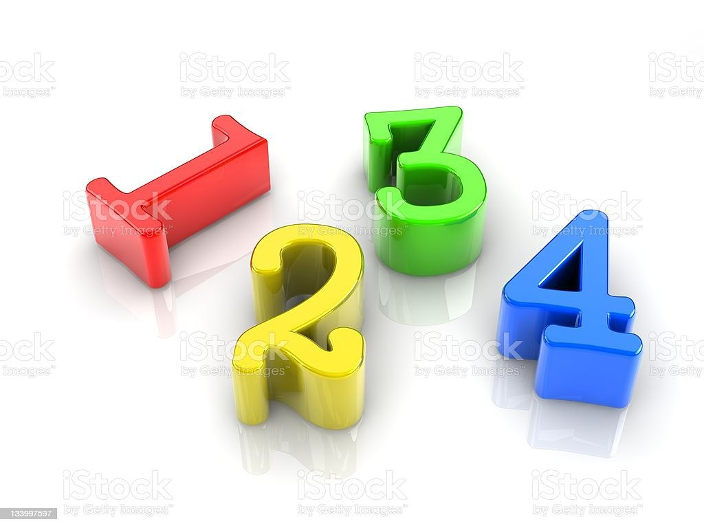 colorful numbers royalty-free stock photo