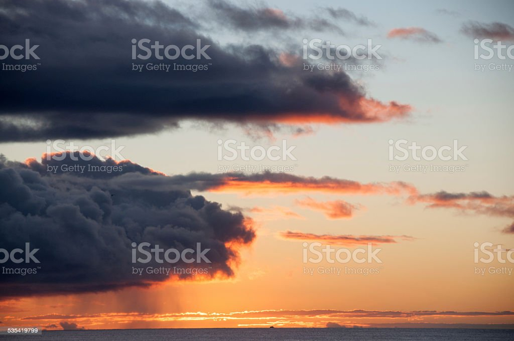 Colorful Ocean Sunset stock photo