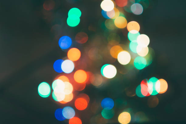 Colorful of blurred illumination for bokeh background, Christmas background