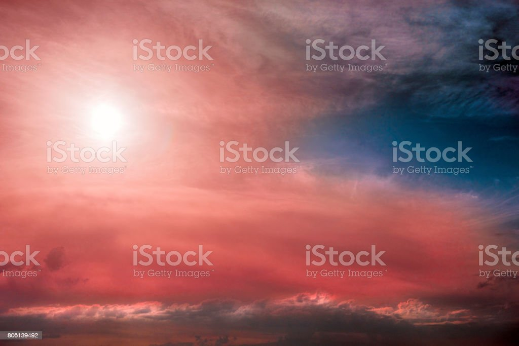 Colorful of cloudscape stock photo