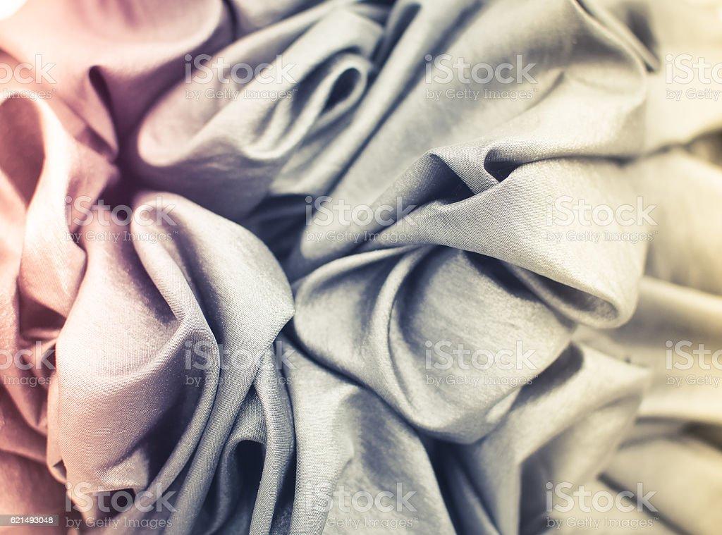 Colorful of fabric texture, Selective Focus photo libre de droits