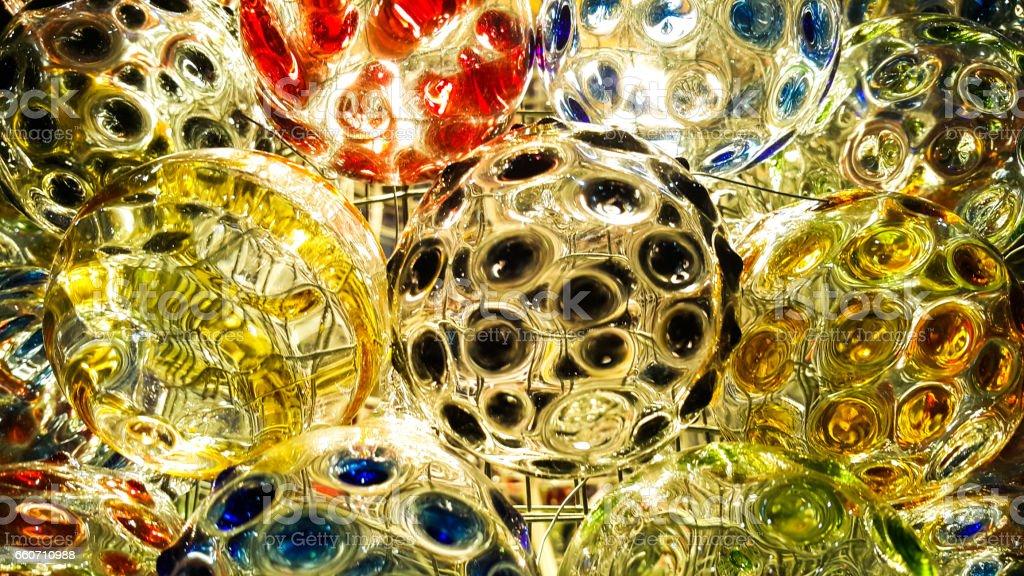 Colorful of glass ball - foto de acervo