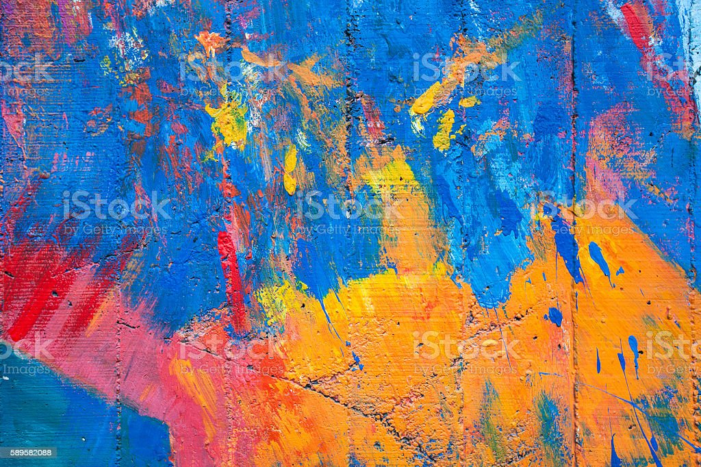 colorful of old cement wall stock photo