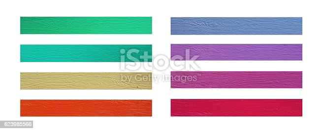 544818734 istock photo Colorful of Plastic wood collection 623985566