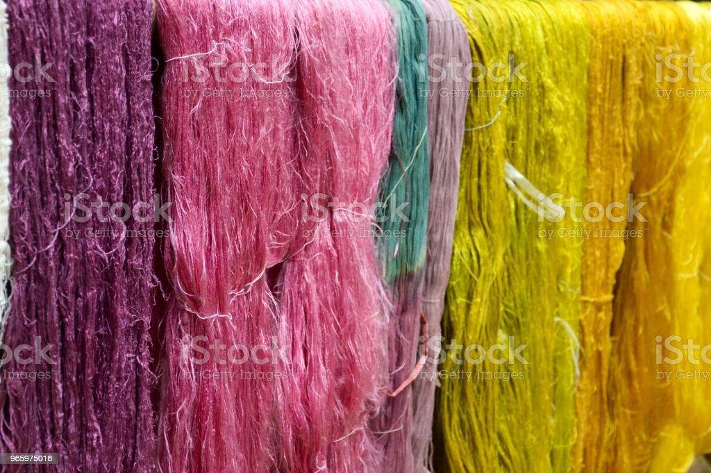 bunte von rohen bunte Seidenfaden - Lizenzfrei Baumwolle Stock-Foto