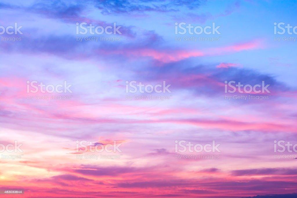 colorful of sky with clouds in the evening - Royaltyfri 2015 Bildbanksbilder