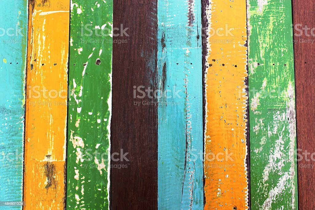 Colorful of wood paint for textture background stock photo
