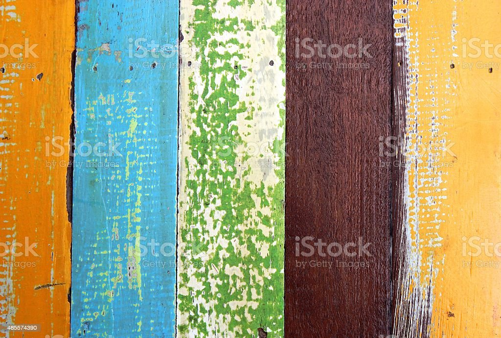 Colorful of wood paint for textture background. stock photo