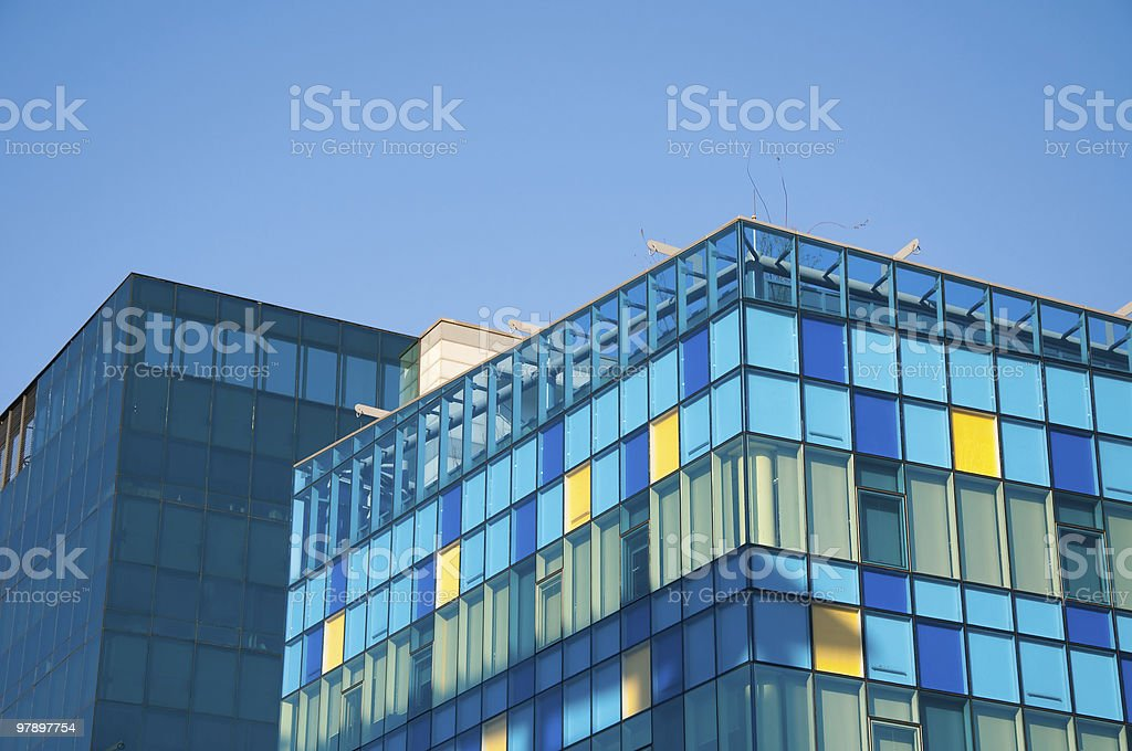 Colorful Office Building royalty-free stock photo
