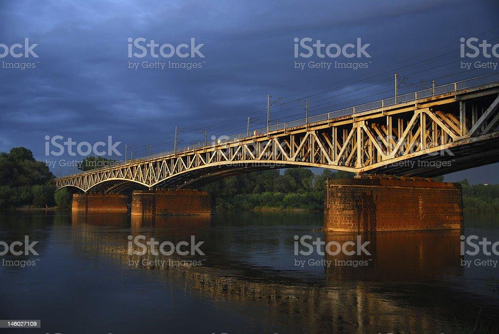 Colorful old bridge royalty-free stock photo