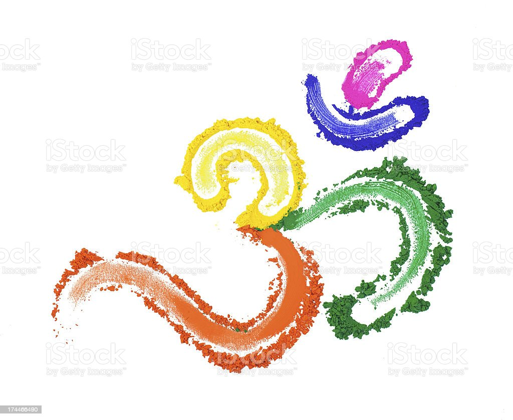 Colorful Om Symbol royalty-free stock photo