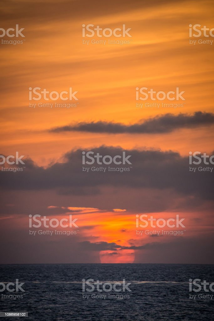 Colorful Orange And Purple Sunset On The Pacific Ocean In La Jolla San Diego California Stock Photo Download Image Now Istock