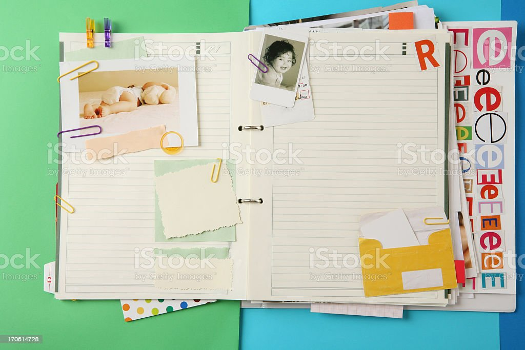colorful organizer stock photo