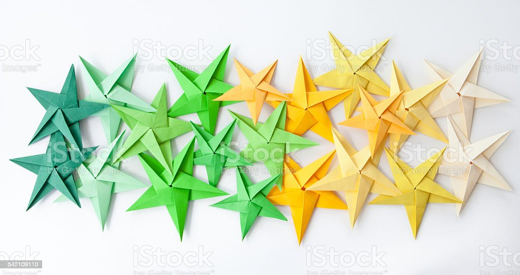 Colorful Origami Stars Stock Photo More Pictures Of Backgrounds