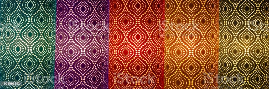 lampes d'ornement coloré - Photo