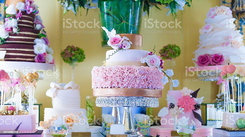Colorful Ornate Cake stock photo