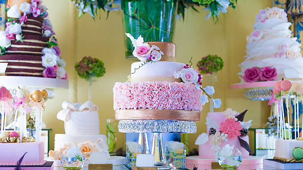 Colorful Ornate Cake stock photo