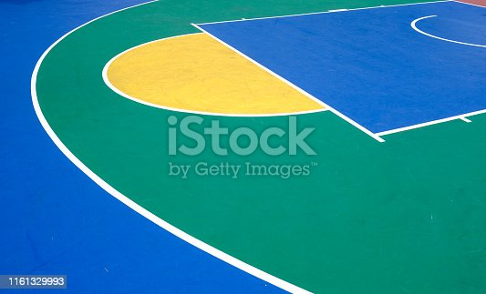 istock colorful outdoor rubber basketball playground detail aerial view 1161329993