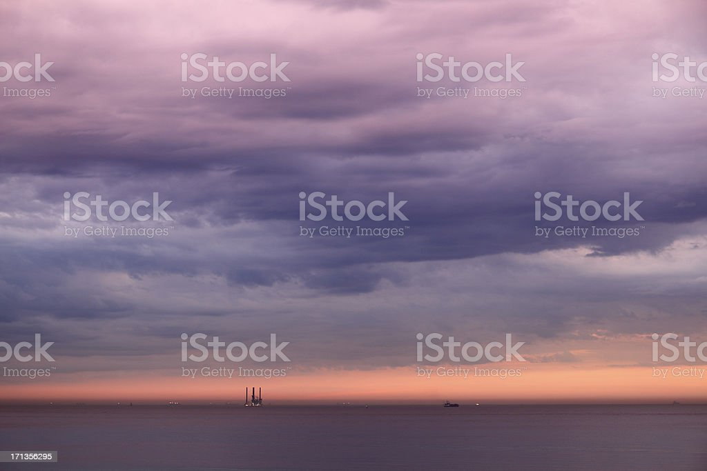 Colorful overcast stock photo