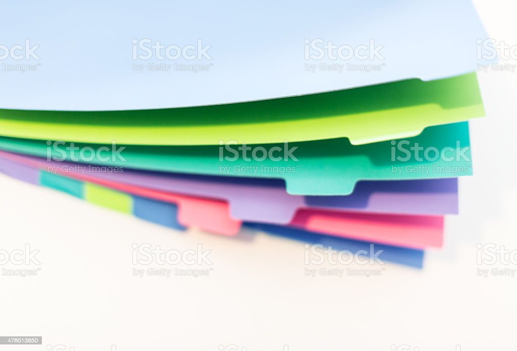 Colorful page divider stock photo